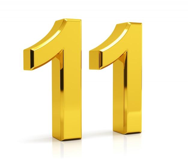 Number 11   Premium Photo