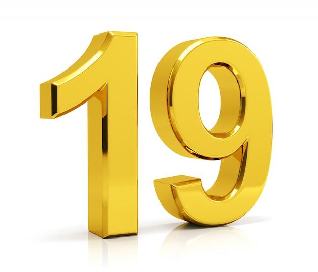 Number 19 Premium Photo