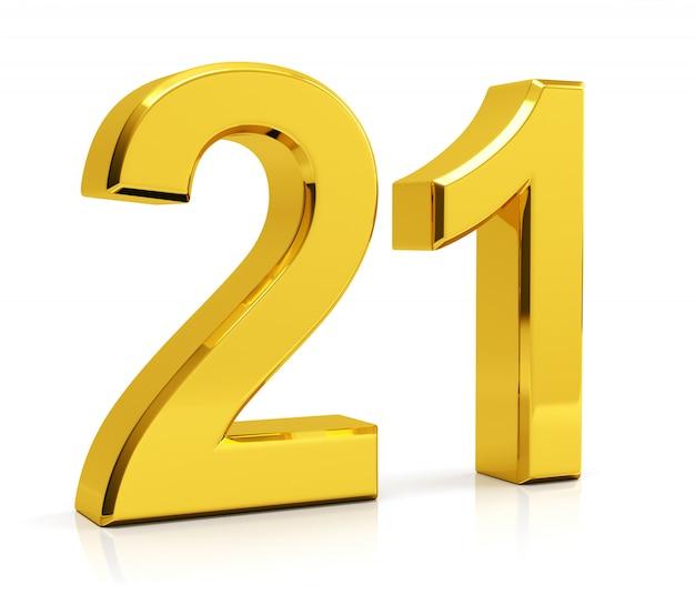Transparent Number 21 Clipart - Transparent Number 21
