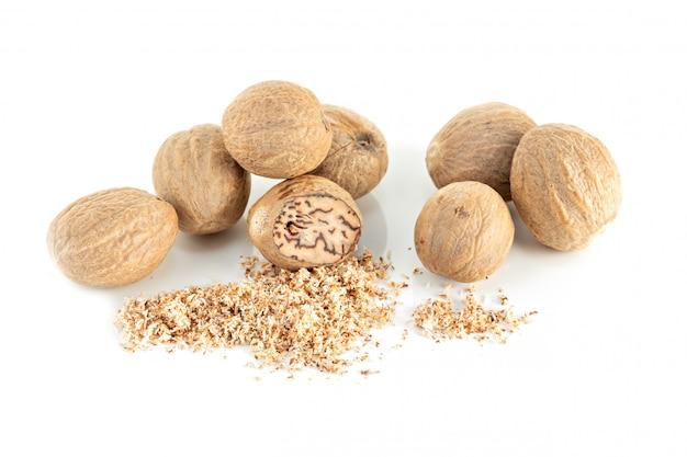 Nutmeg isolated copyspace Premium Photo
