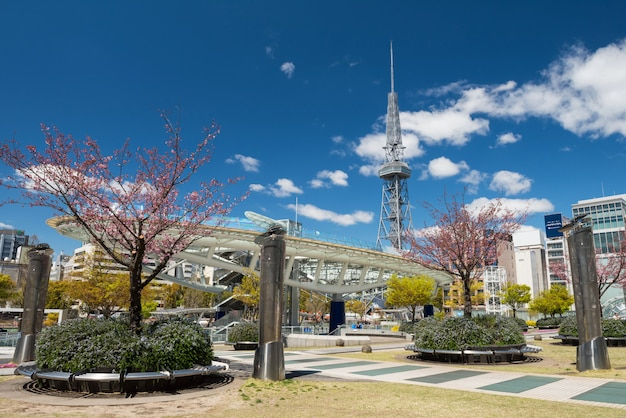 Oasis21 at spring in nagoya Premium Photo