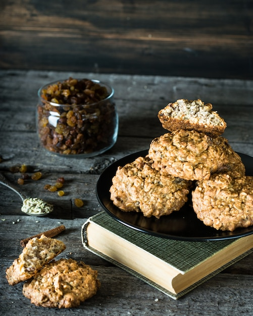 Oatmeal Cookies Healthy Food Snack Christmas Cookies Healthy Food
