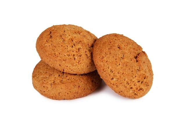 Овсяное печенье изолированные Premium Фотографии