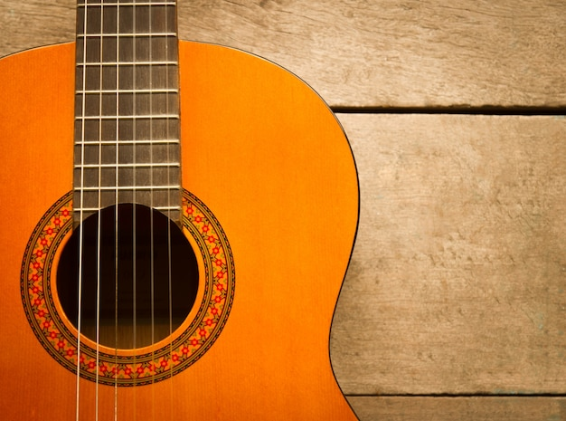 Object acoustic wooden body guitar Free Photo