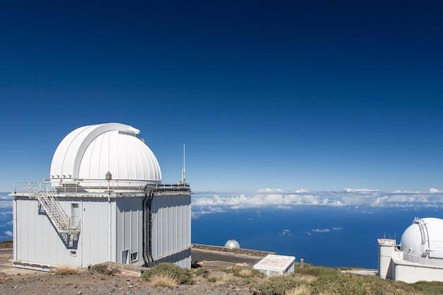 Observatory on top of the caldera de taburiente volcano Free Photo