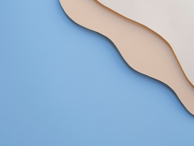Ocean blue copy space of abstract paper waves Free Photo