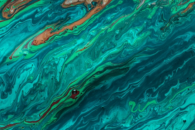 Ocean waves of acrylic paint artistic texture Free Photo