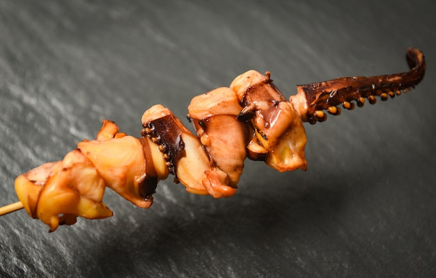 Octopus in skewer sticks Premium Photo