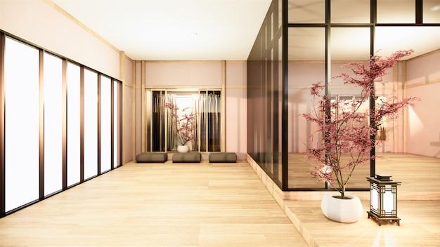 オフィスビジネス-美しいjapanroom会議室と会議用テーブル、モダンなスタイル。 3dレンダリング Premium写真