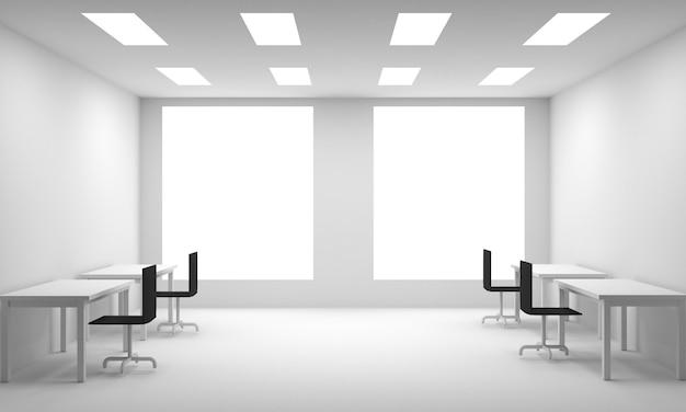 Office interior  3d illustration - illustration Photo