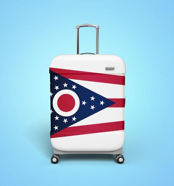 Ohio flag suitcase - vacation Premium Photo