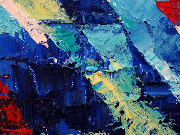 Oil painting on canvas abstract background. Premium Photo