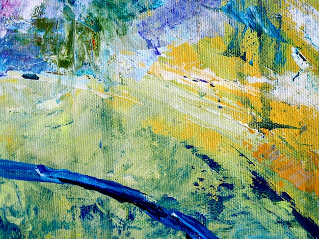 キャンバスの抽象的な背景の油絵。 Premium写真