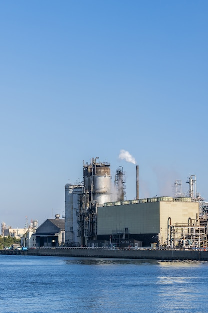 Oil petrochemical factory Premium Photo