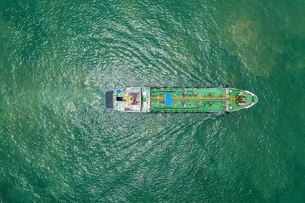 Oil tanker or gas tanker in open sea Premium Photo