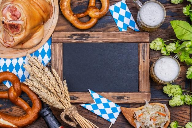 Oktoberfest holiday background Premium Photo