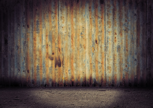 Old and aged vintage metal background Premium Photo