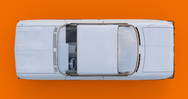 Old american car in excellent condition. 3d rendering Premium Photo