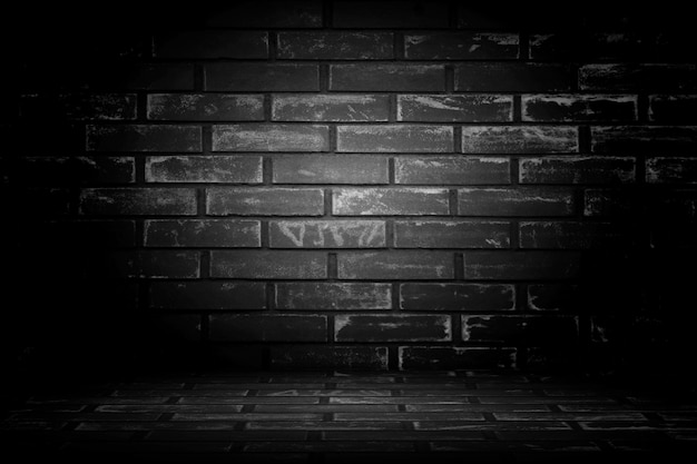Old black wall background. texture with border black vignette ba Free Photo