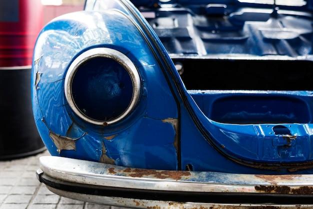 Old blue car Free Photo