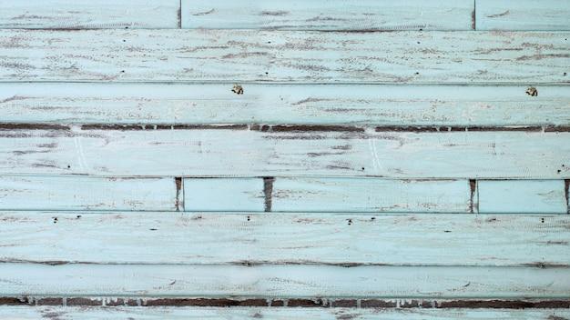 古い青緑色の木の板のテクスチャ背景 Premium写真