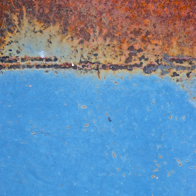 Old blue rust metal texture Premium Photo