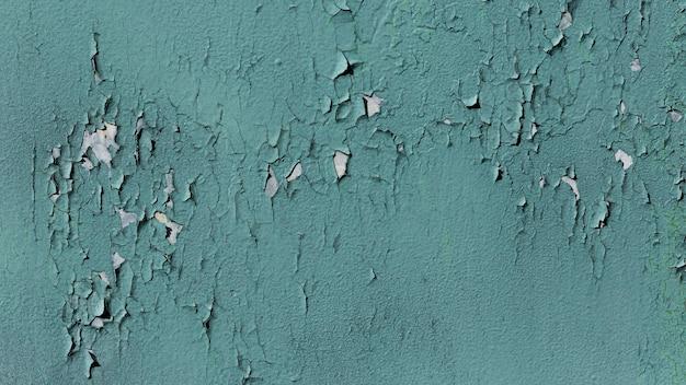 타락 한 페인트와 오래 된 파란 벽 무료 사진
