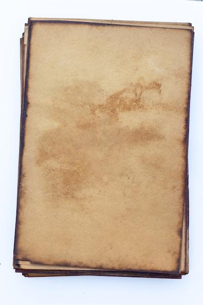 Старый фон гранж коричневой бумаги. Premium Фотографии