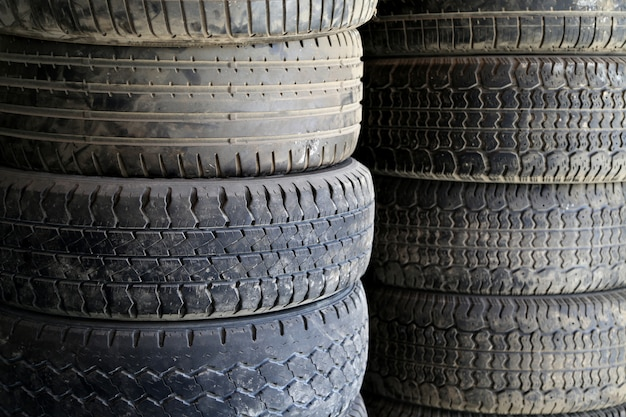 Old car tires Premium Photo