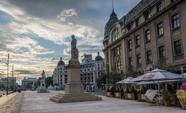 Old center of bucharest, romania Premium Photo