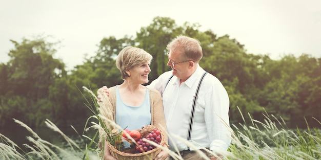 Old couple taking a walk Premium Photo