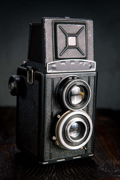 Old fashion antique camera Premium Photo