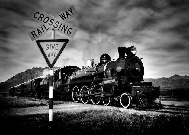 Old fashioned steam locomotive, kingston new zealand. Free Photo