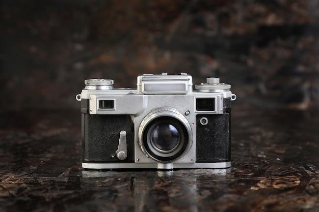 Old film camera . Premium Photo