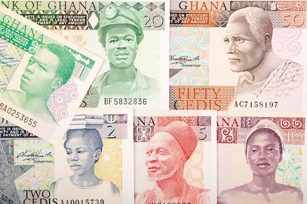 Old ghanaian cedis banknotes Premium Photo