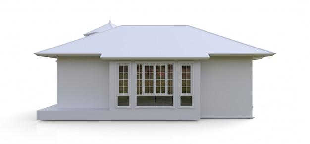 Старый дом в викторианском стиле. иллюстрация на пустое пространство. виды с разных сторон. 3d-рендеринг. Premium Фотографии