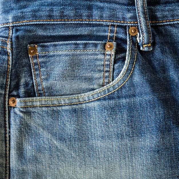 Old jeans pocket Premium Photo