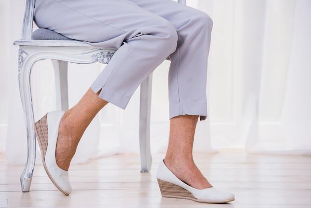 Old lady wearing cute pants Free Photo