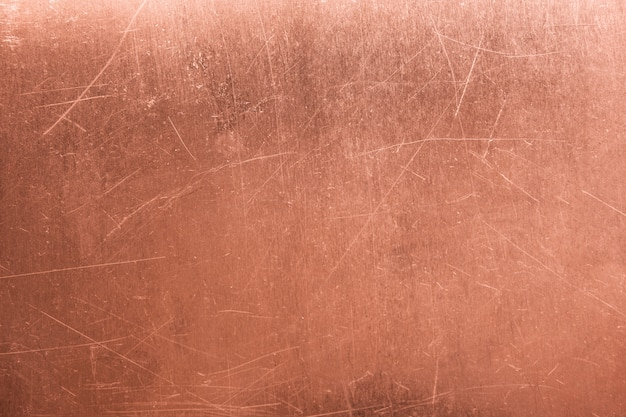 Old metal plate, brushed texture copper, bronze background Premium Photo