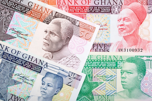 Old money from ghana a business background Premium Photo