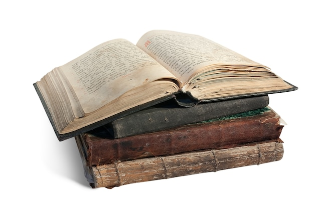 The old opened book is christian psalter Free Photo