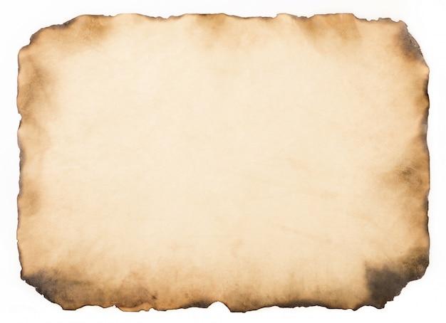 Kertas tua antik tua atau tekstur pada Foto Premium latar belakang putih