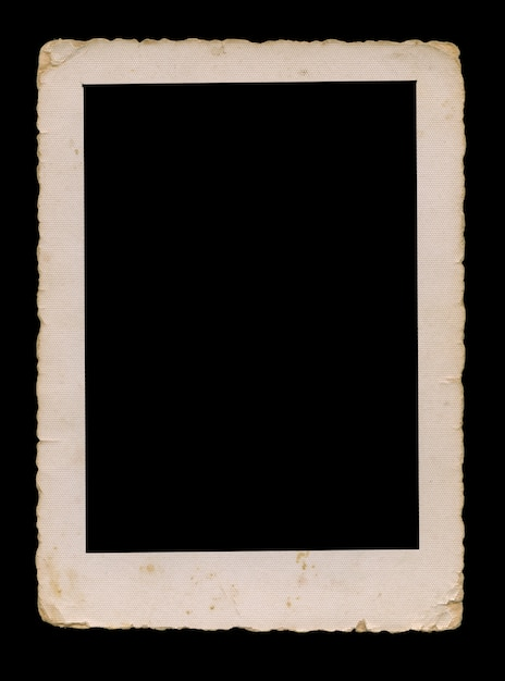 Old photo with clipping path for the inside, blank vintage frame Premium Photo
