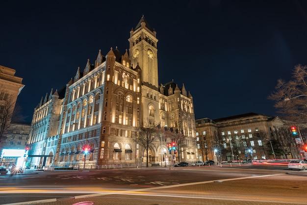 Old post office washington dc, united states, usa downtown, architecture and landmark Premium Photo
