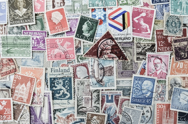 old post stamps background photo premium download