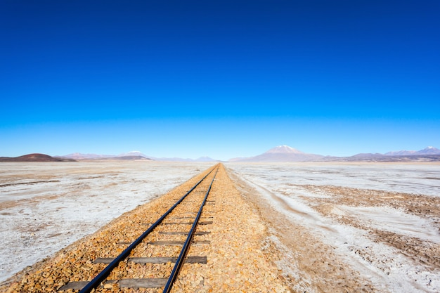 Old railway, bolivia Premium Photo