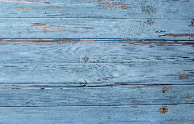 Old rustic blue wooden background Premium Photo