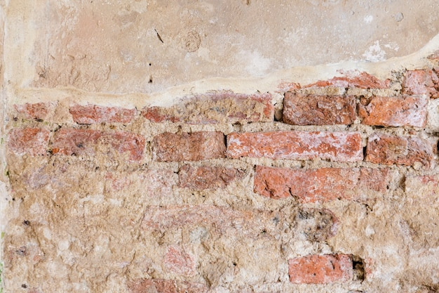 Old Rustic Brick Wall Texture Background Premium Photo