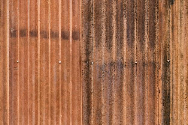 Old Rustic Metal Steel Plate Wall Premium Photo