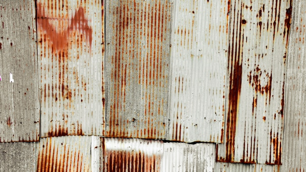 Old and rusty galvanized iron roof texture Premium Photo